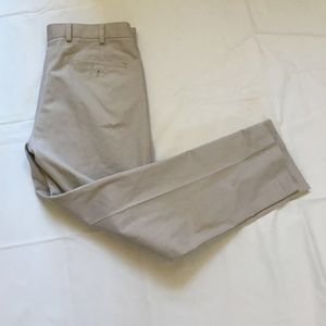 Brooks Brothers Mens Flat Front Chinos Pants Sz 35